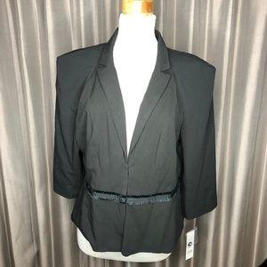 ELLE JACKET NWT'S  SZ. XL BLACK FULLY LINED